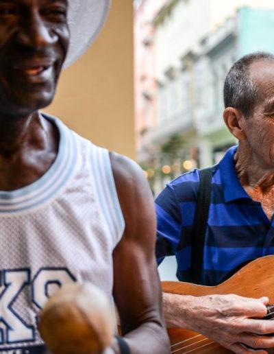 Musicos en Cuba